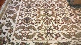 Hand made oriental carpet rug.
