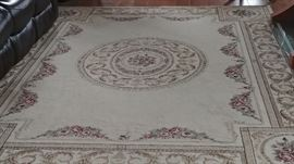 8'x10' rug in neutral colors.