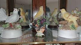 Collectible porcelain birds