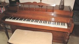 Howard console piano and bench.