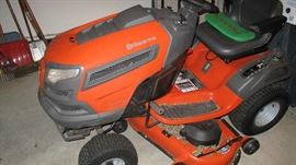 "Nice Husqvarna riding mower. 24hp. - 48"" deck. We think it is a 2013."