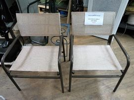 Brown Jordan Side Chairs Bronze Powder Coated finish and new slings.  Aluminum frames - lightweight-good quality