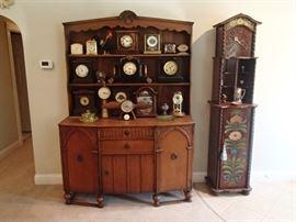 Clocks, cupboard