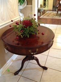 Stunning Century drum table