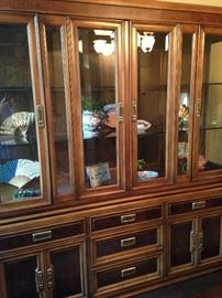 China cabinet has great storage and display areas.