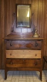 Cabinet with drawers and mirror