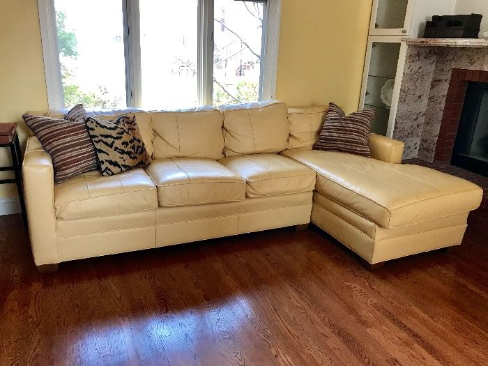 Leather Two Piece Sectional by Vanguard Furniture