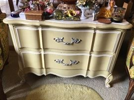 Soft yellow painted small dresser