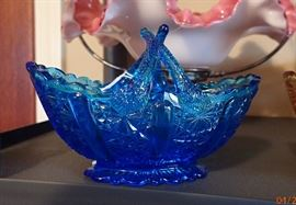 Fenton Baskets collection - All Shapes and colors -             Even Fenton would be impressed.