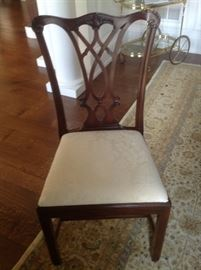 Close up of dining room chair