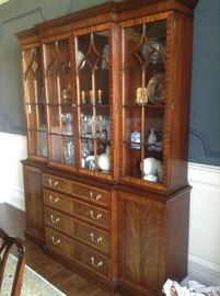 Close up of dining room China cabinet - mahogany - $1800