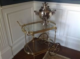 LaBarge serving cart which measures 29w x 17 d x 30h.  $500