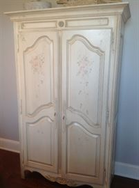 Ethan Allen white Wardrobe measures 46 w x 19 -d x79h  - $350