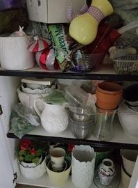 Decorative Pots, Flower arranging items, Flower Frogs
