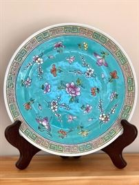 Antique Chinese plate on stand