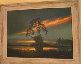 Original Highwayman painting by Roberts---Large size