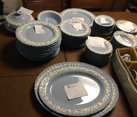 Service for 12. Signed English Wedgewood with lots of extra serving pieces. Sold as a set only. $800 available for pre-sale
