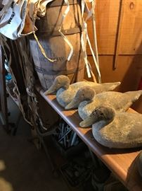 Antique Primitive Duck Decoys from the 1930's, nail barrel