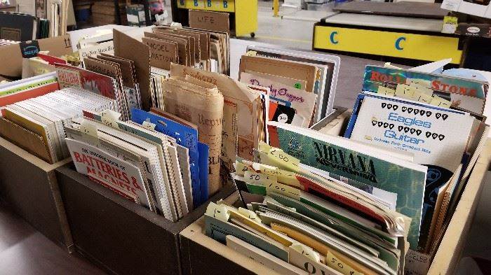 GREATLY EXPANDED EPHEMERA SECTIONS.                          AND POSTCARDS THIS YEAR!!!