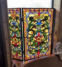 Stained Glass fireplace screens (2)
