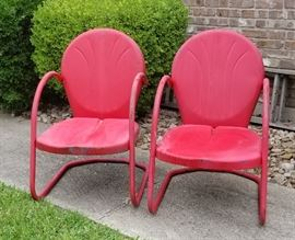 Vintage metal outdoor chairs
