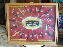 INCREDIBLE Camillus knive General store salesman sample display  box