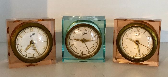 Vintage Sheffield Jewelled clocks from West Germany