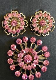 Great vintage pink rhinestones!