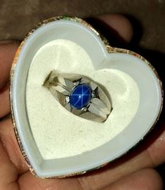 14 K and Star sapphire