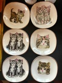 Kitty plates, Weatherby Hanley England
