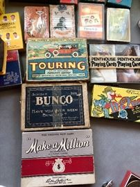 Vintage games and playing cards