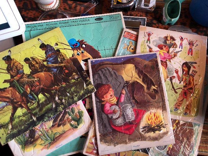 Children's vintage puzzles