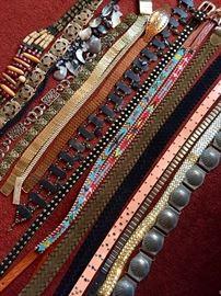 Vintage belt collection