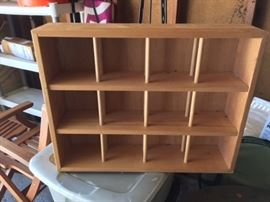 Wooden Display Unit.