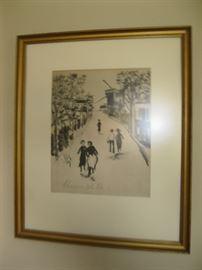 Signed, Framed Art