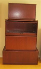 4 Barrister Style Storage Cabinets