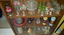 Beer steins, Crystal and vintage barware.