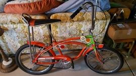 Vintage bike in original condition except rear tire and one brake line.  Very good condition.