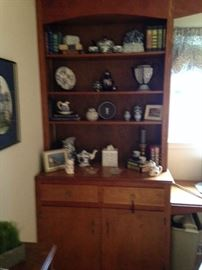 blue and white shelf 1