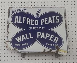 Early Alfred Peats wallpaper sign