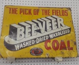 1930's/40s Binkley Coal Sign