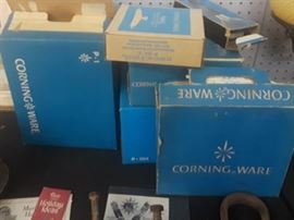 Vintage CorningWare in original boxes