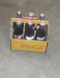 1940's-50's wooden 6 pack Coke carrier