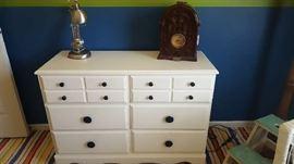$75  White small dresser