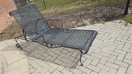 $40  Black wrought iron lounge chair