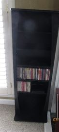 black Bookcase DVD's