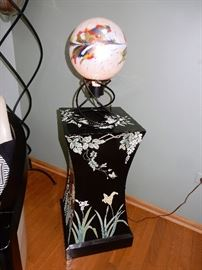 Floral Motif Floor Stand/Base and Table Lamp