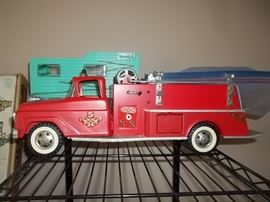 vintage fire truck with box