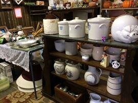 Crockery and shelves