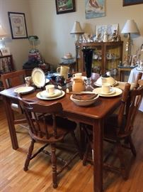 Antique table and mix match chairs